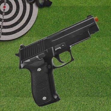 Review de full airsoft pistola airsoft calibre 6 0mm g26 spring full metal