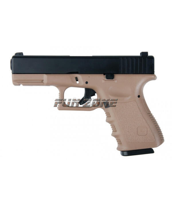 Review de gbb airsoft pistola airsoft gbb g23 abs tan kjw